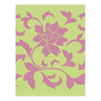 Oriental Flower - Strawberry & Daiquiri Green Lime Postcard
