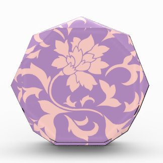 Oriental Flower - Strawberry Lilac Acrylic Award