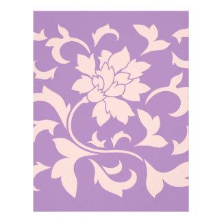 Oriental Flower - Strawberry Lilac Letterhead