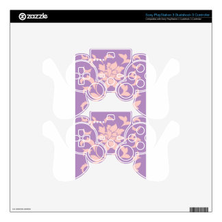Oriental Flower - Strawberry Lilac PS3 Controller Decal