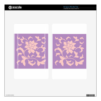 Oriental Flower - Strawberry Lilac Skins For Kindle Fire