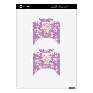 Oriental Flower - Strawberry Lilac Xbox 360 Controller Skin