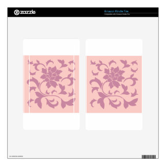 Oriental Flower - Strawberry & Rose Quartz Decal For Kindle Fire