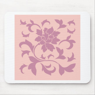 Oriental Flower - Strawberry & Rose Quartz Mouse Pad