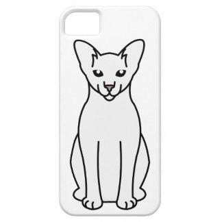 Oriental Foreign White Cat Cartoon iPhone SE/5/5s Case
