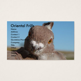 Oriental Frills Business Card