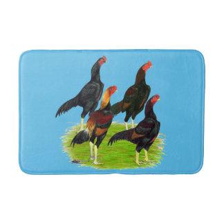 Oriental Game Fowl Quartet Bathroom Mat
