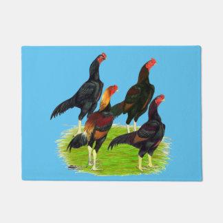 Oriental Game Fowl Quartet Doormat