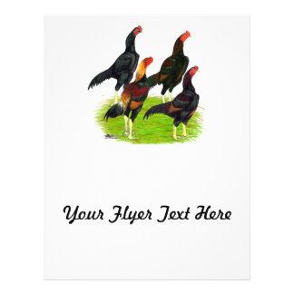 Oriental Game Fowl Quartet Flyer