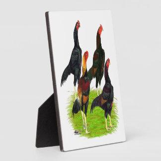 Oriental Game Fowl Quartet Plaque