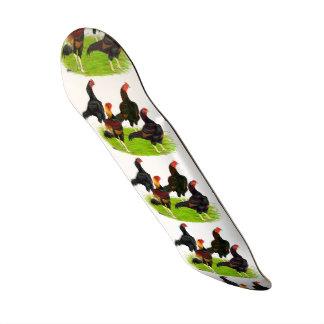 Oriental Game Fowl Quartet Skateboard Deck