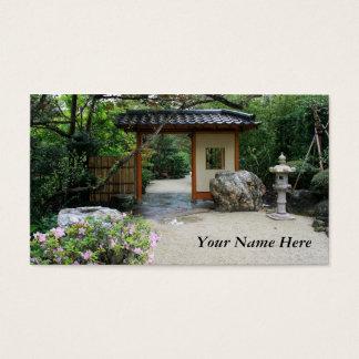 Oriental Garden Gate Business Card