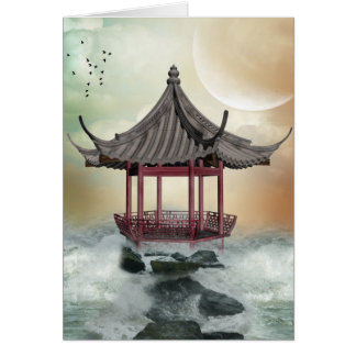 Oriental Gazebo Greeting Card