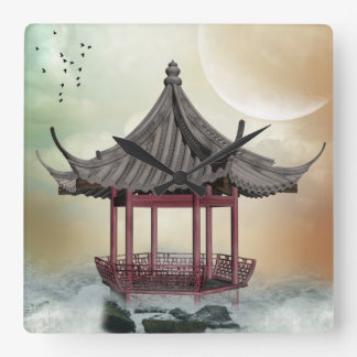 Oriental Gazebo Wall Clock