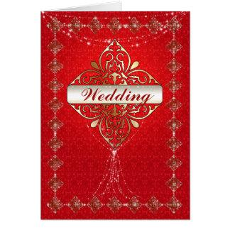 Oriental Glamour - Wedding Greeting Card