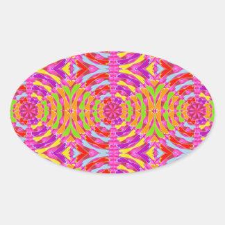 Oriental GoodLuck PRINT : Diamond Circle Holistic Sticker