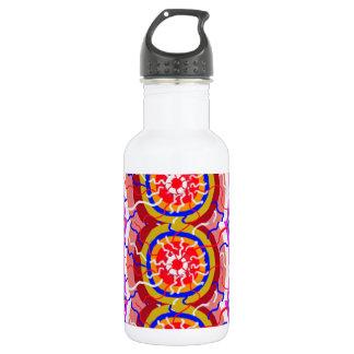 ORIENTAL Indian Temple Art: SUN CHAKRA Energy Water Bottle