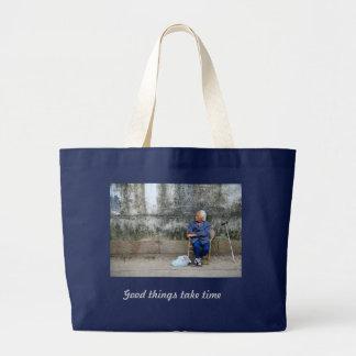 Oriental Inspiration Large Tote Bag