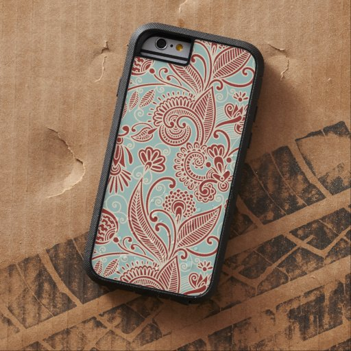 Oriental Iranian Paisley, Swirls - Red Blue Tough Xtreme iPhone 6 Case