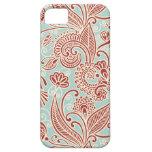 Oriental Iranian Paisley, Swirls - Red Blue iPhone 5/5S Case