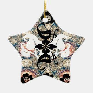 Oriental.jpg Double-Sided Star Ceramic Christmas Ornament
