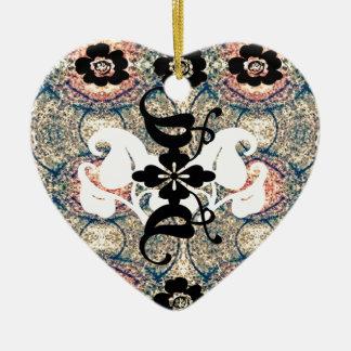 Oriental.jpg Double-Sided Heart Ceramic Christmas Ornament