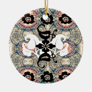 Oriental.jpg Double-Sided Ceramic Round Christmas Ornament