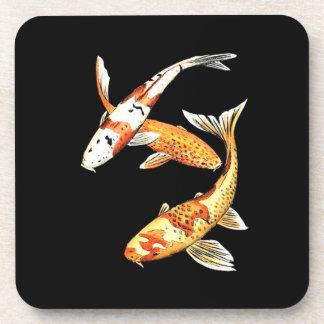 Oriental Koi Goldfish Beverage Coaster