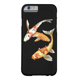 Oriental Koi Goldfish on Black Barely There iPhone 6 Case