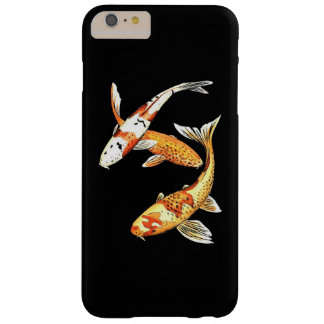 Oriental Koi Goldfish on Dramatic Black Barely There iPhone 6 Plus Case