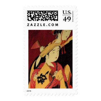 Oriental Ladies Postage Stamp
