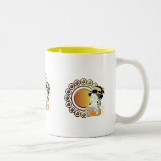 Oriental Lady in ginger Coffee Mug