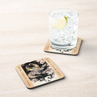 Oriental legendary mythical Dragon ink tattoo art Drink Coaster