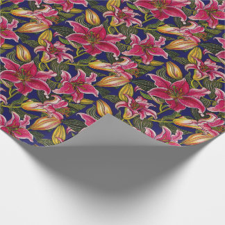 Oriental Lilies Wrapping Paper