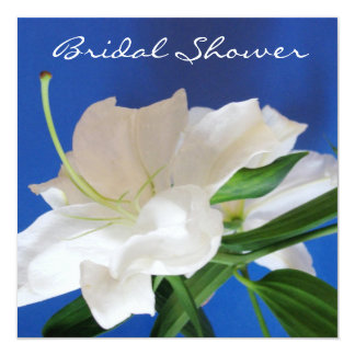 Oriental Lily Bridal Shower Invitation