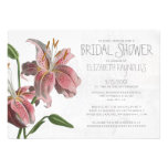 Oriental Lily Bridal Shower Invitations Custom Invitation