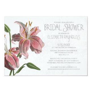 Oriental Lily Bridal Shower Invitations