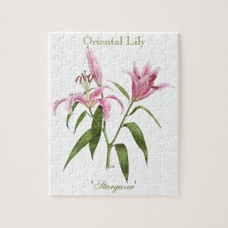 Oriental Lily - Stargazer Jigsaw Puzzle