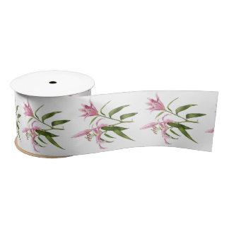 Oriental Lily - Stargazer Satin Ribbon