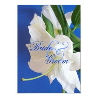 Oriental Lily Wedding Invitation