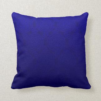 Oriental Long Life Symbol jacquard | cobalt Throw Pillow