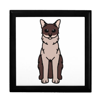 Oriental Longhair Cat Cartoon Gift Box