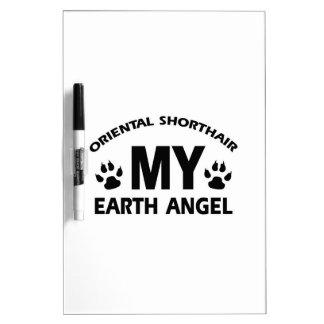 oriental longhair cat design Dry-Erase board