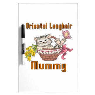 Oriental Longhair Cat Mom Dry Erase Board