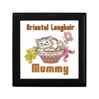Oriental Longhair Cat Mom Jewelry Box