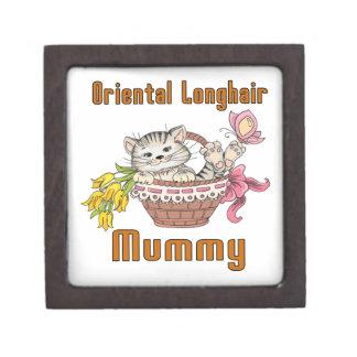 Oriental Longhair Cat Mom Keepsake Box