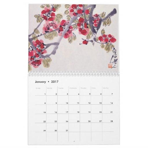 Oriental Master Art Plants Calendar
