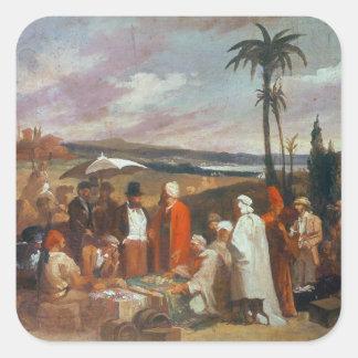 Oriental Merchants Square Sticker