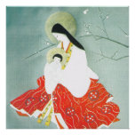 Oriental nativity scene, Mary and Jesus, Poster