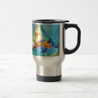 Oriental nativity scene, Mary, Jesus Travel Mug